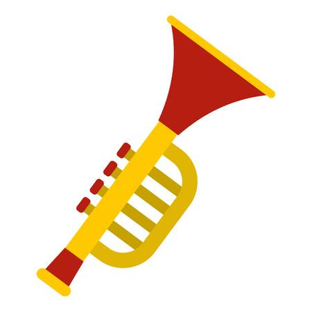 Colorful trumpet toy icon isolated Illustration
