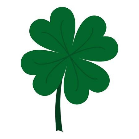 Four leaf clover icon isolated