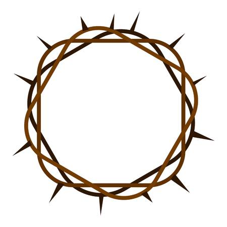 Crown of thorns icon flat isolated on white background vector illustration
