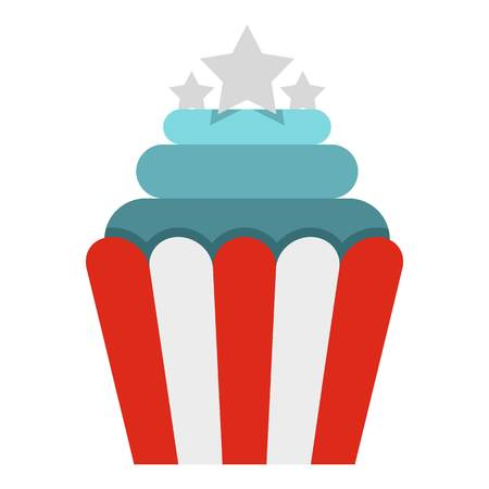 dessert buffet: Popcorn icon isolated Illustration