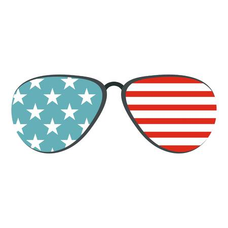 American glasses icon isolated Illustration
