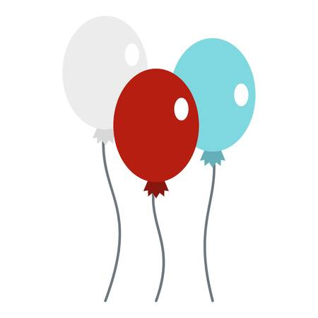 calendar icon: Balloons icon flat isolated on white background vector illustration