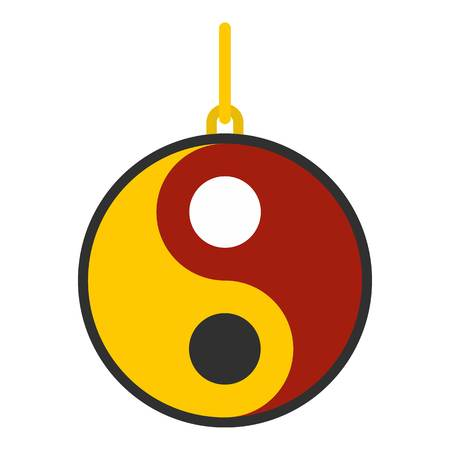 Ying yang symbol of harmony and balance icon flat isolated on white background vector illustration