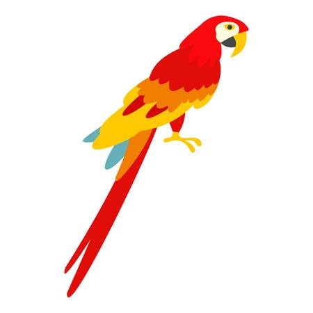 Scarlet macaws icon isolated  イラスト・ベクター素材
