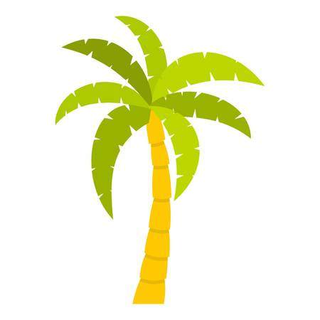 Green palm tree icon isolated