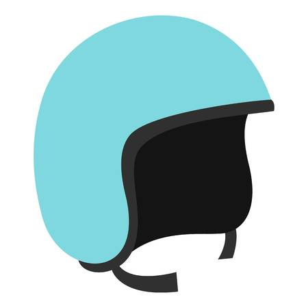 Blue safety helmet icon isolated Illustration