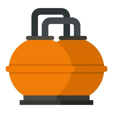 industrial machinery: Orange fuel storage tank icon isolated