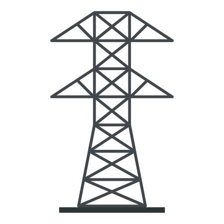 Elektrische centrale pictogram geïsoleerd