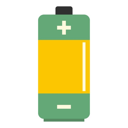 expressing positivity: AA Alkaline battery icon flat isolated on white background vector illustration