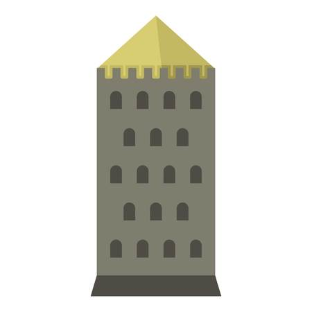 Tower icon flat isolated on white background vector illustration