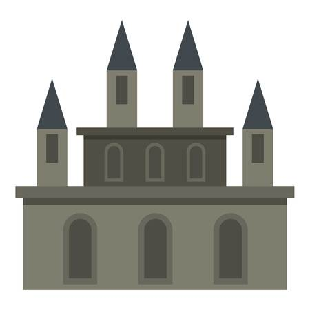Medieval castle icon isolated