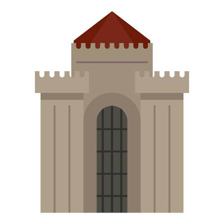 Medieval building icon isolated