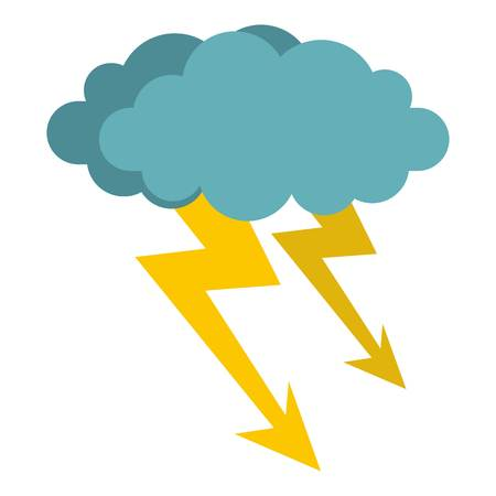 dazzle: Cloud storm icon isolated.