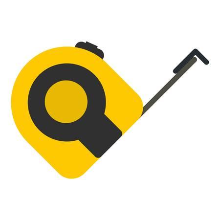 Plano de icono de herramienta de trabajo de ruleta aislado en ilustración de vector de fondo blanco Foto de archivo - 76407066