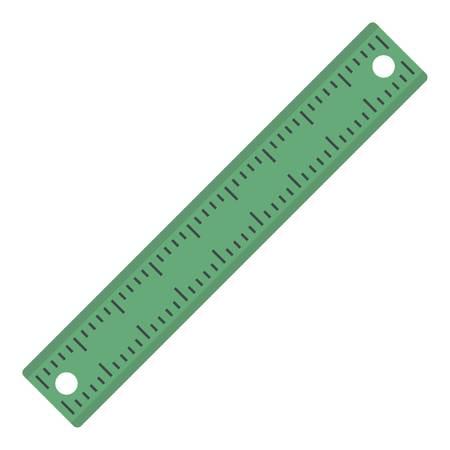 Ruler, rectangular shape icon isolated.