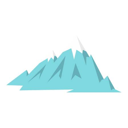 rockies: Rocky Mountains icon flat isolated on white background vector illustration