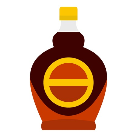 Bottle of maple syrup icon isolated.