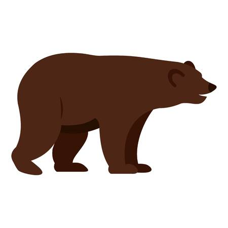 colorado rocky mountains: Grizzly bear icon isolated. Illustration