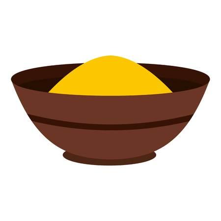 カレーはスパイス分離されたアイコンです。