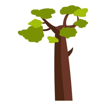 Baobab icon flat isolated on white background vector illustration