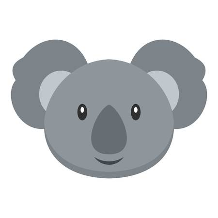 Koala icon flat isolated on white background vector illustration