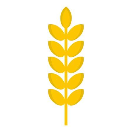 rye: Grain spike icon isolated