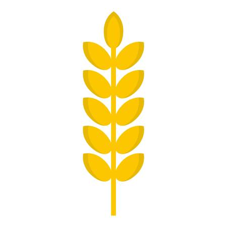 Grain spike icon isolated