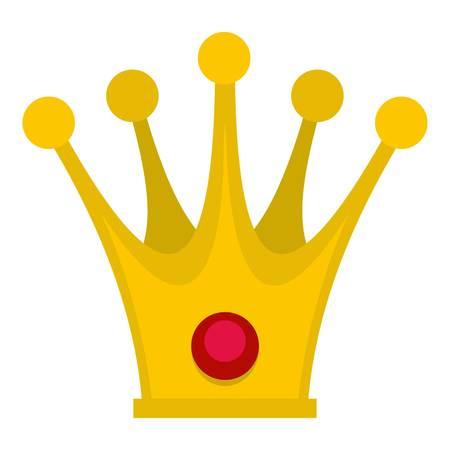 Crown icon flat isolated on white background vector illustration