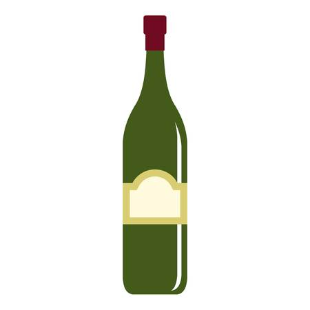 One bottle icon isolated