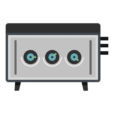 disk jockey: CD player icon isolated. Illustration