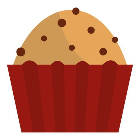 raisin: Muffin with raisins icon isolated