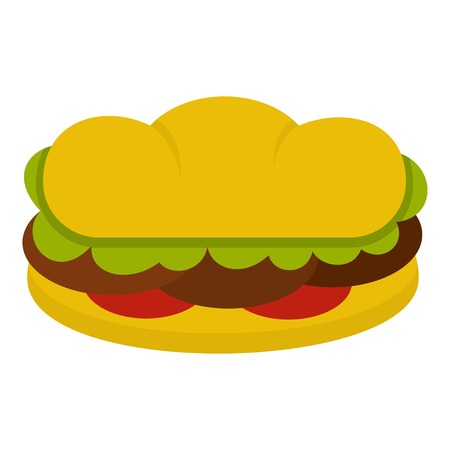 Sandwich with meat patties icon isolated