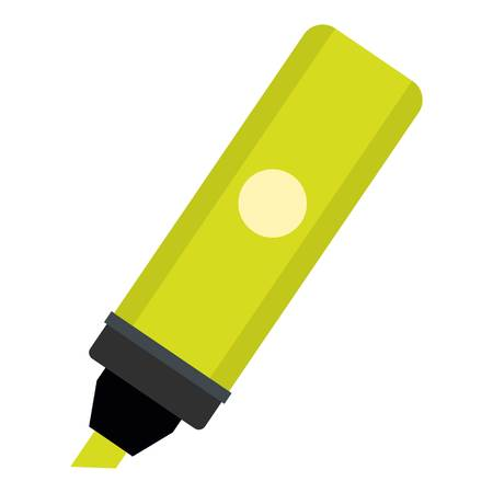 Highlighter icon flat isolated on white background vector illustration