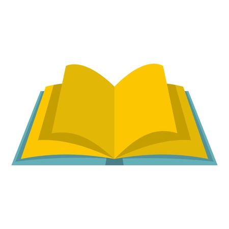Open book with yellow pages icon isolated