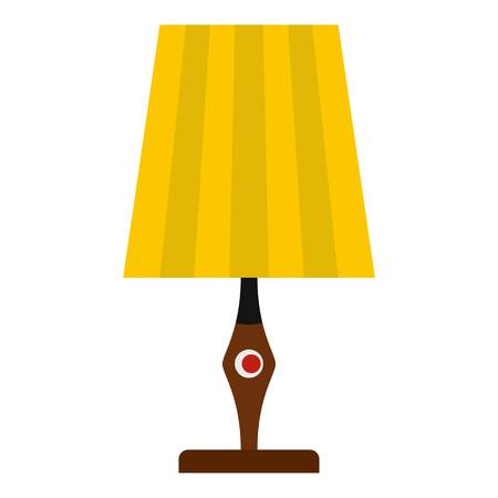Yellow table lamp icon isolated