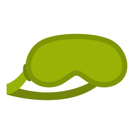 Green sleeping mask icon isolated