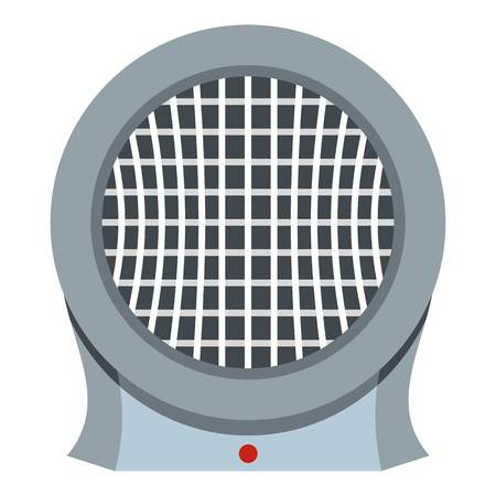 cold room: Portable electric heater icon isolated Illustration