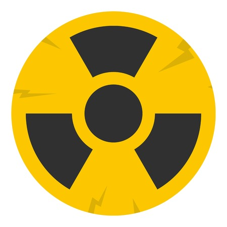 nuke plant: Nuclear sign icon isolated Illustration