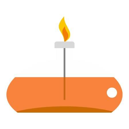 translucent: Chemical alcohol burner icon isolated Illustration