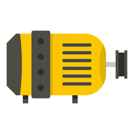 Electric motor icon isolated