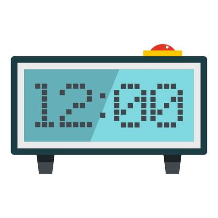 Alarm clock icon flat isolated on white background vector illustration