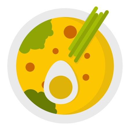 Miso soup icon isolated Illustration