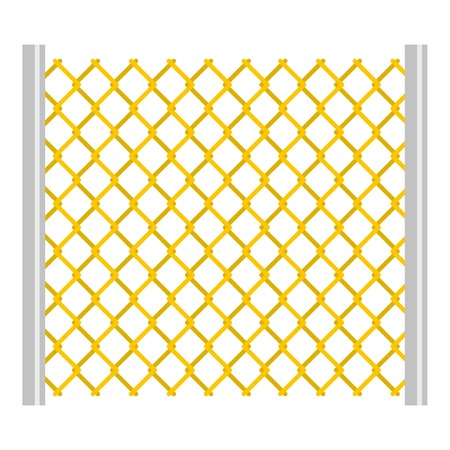 perforated: Perforated gate icon flat isolated on white background vector illustration Illustration