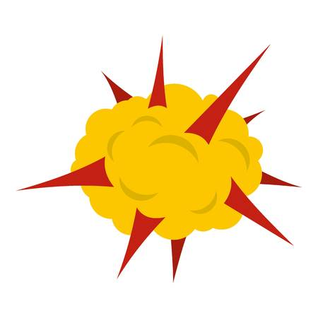 nuclear bomb: Power explosion icon flat isolated on white background vector illustration Illustration