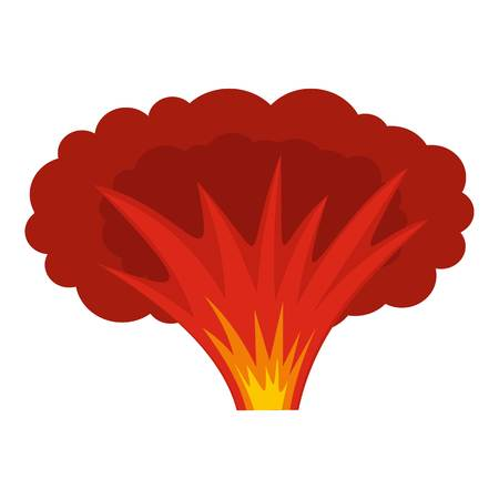 chernobyl: Atomical explosion icon isolated Illustration