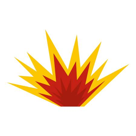Nuclear explosion icon isolated