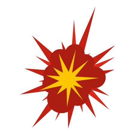 bombe atomique: Icône d'explosion de nucléate isolée