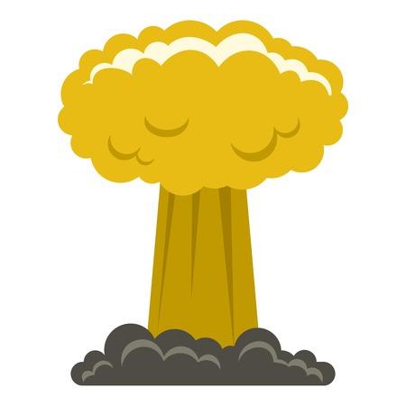 Champignon nuage icône plate isolé sur fond blanc vector illustration