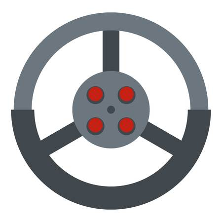 Steering wheel icon isolated Illustration