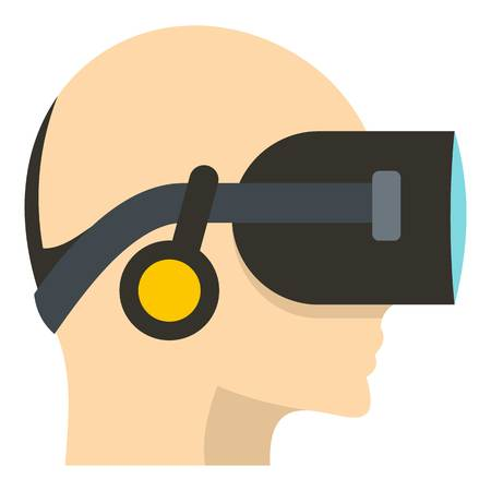 stereoscopic: VR headset icon isolated